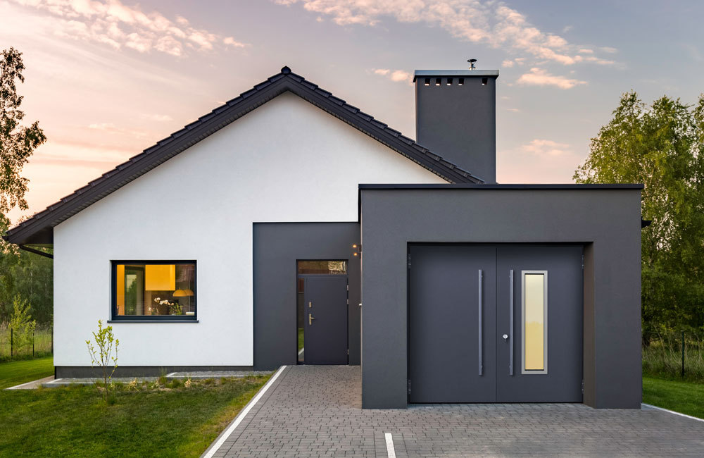 Teckentrup 62 Swing Secure in Anthracite with TALL 1360 V1 window