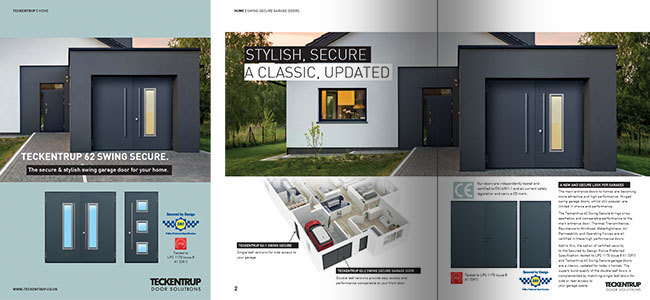 62 Swing Secure Garage Doors (Brochure) cover