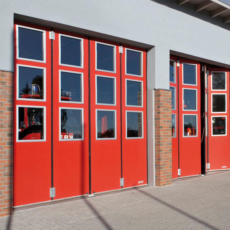 Industrial Sliding Folding Insulated Fire Station Door