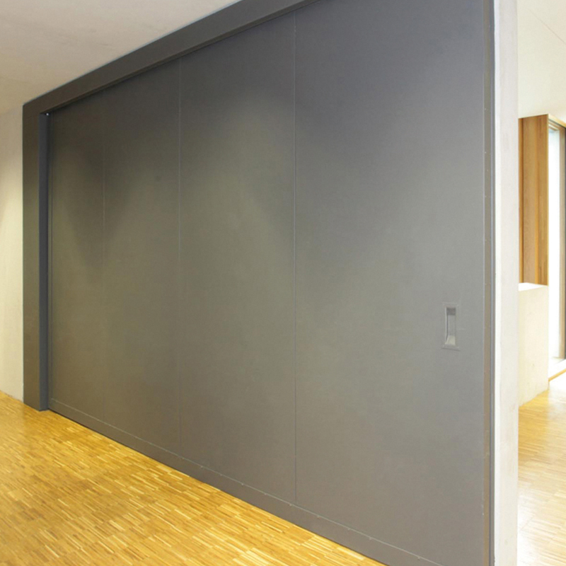 "Fire-resistant steel sliding door T90-1-FSA ""Teckentrup 72 E"" Used As A Room Divider"