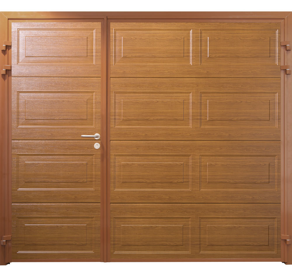 CarTeck Side Hinged Georgian Asymmetric Horizontal Woodgrain Golden Oak