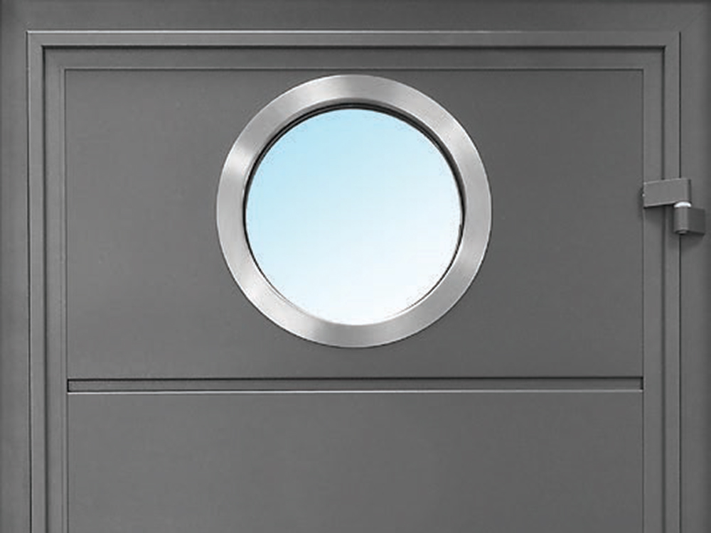 Solid Horizontal - Smooth TT703 with Round Stainless Steel Window
