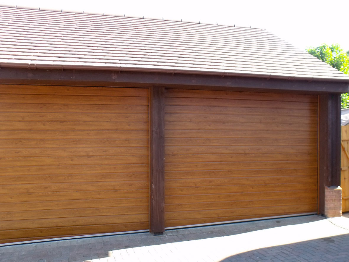 Garage doors up-close