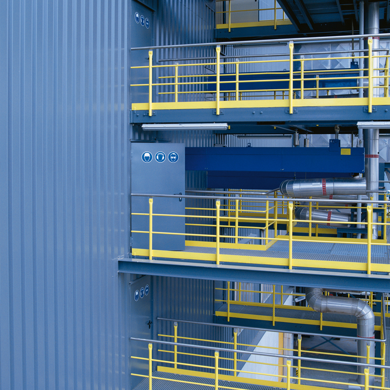 Access Steel Doors On Factory Gantries with Acoustic And High Frequency Closers