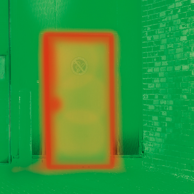 Thermal Imaging Of A Steel Doorsets Without Thermal Break