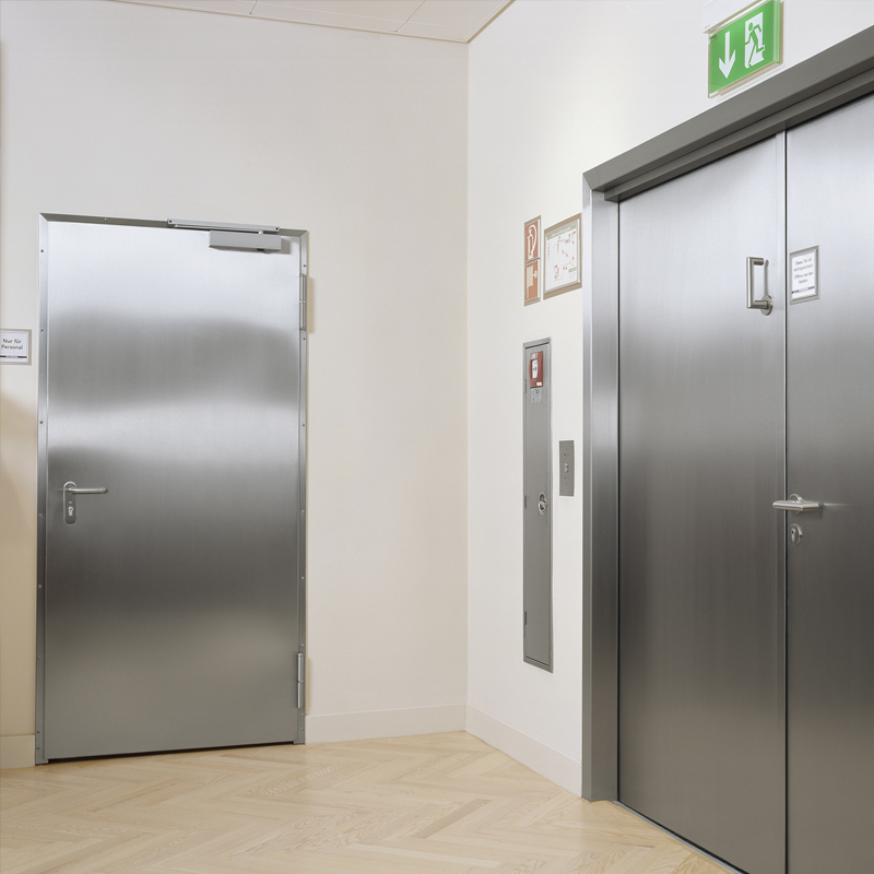 Single & Double Stainless Steel Fire Doors