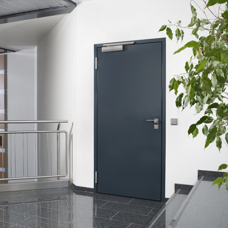 Single Steel Security Door With Keyless Proximity Reader Access