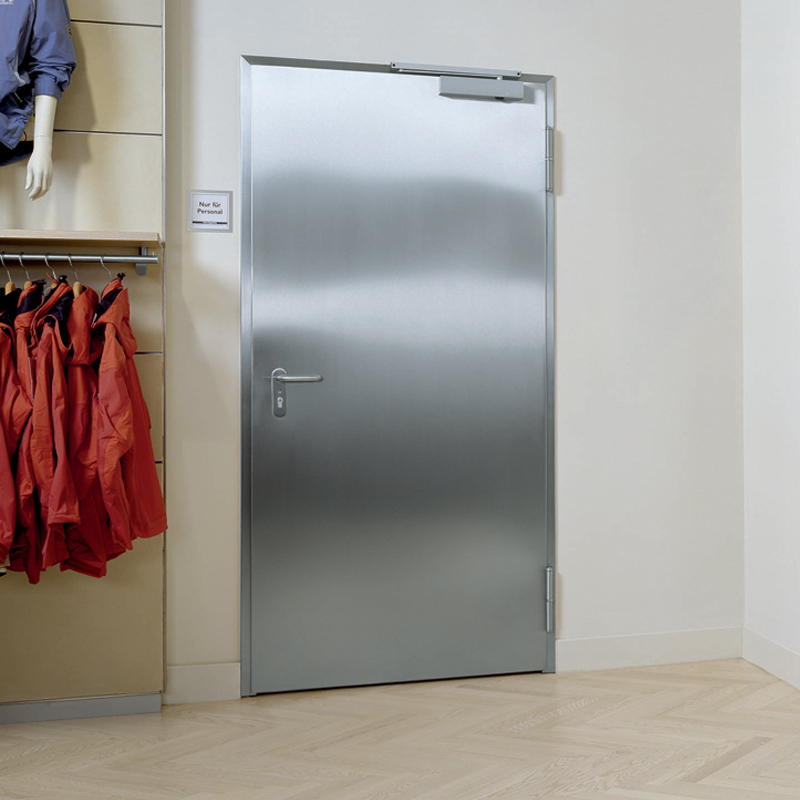 Stainless Steel Security Door Also With Fire Certification For Integrity And Insulation