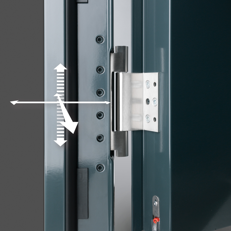 3D Hinge Allowing Easy Adjustment In All Planes